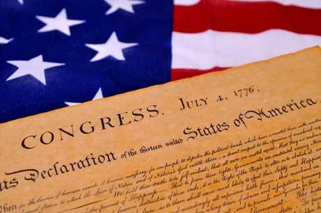 Flag & Declaration of Independence