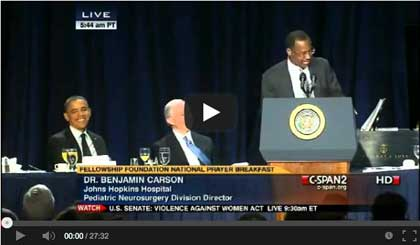 Featured Video: Dr. Benjamin Carson Epic Full Speech at National Prayer Breakfast Attacks Obama's Policies!