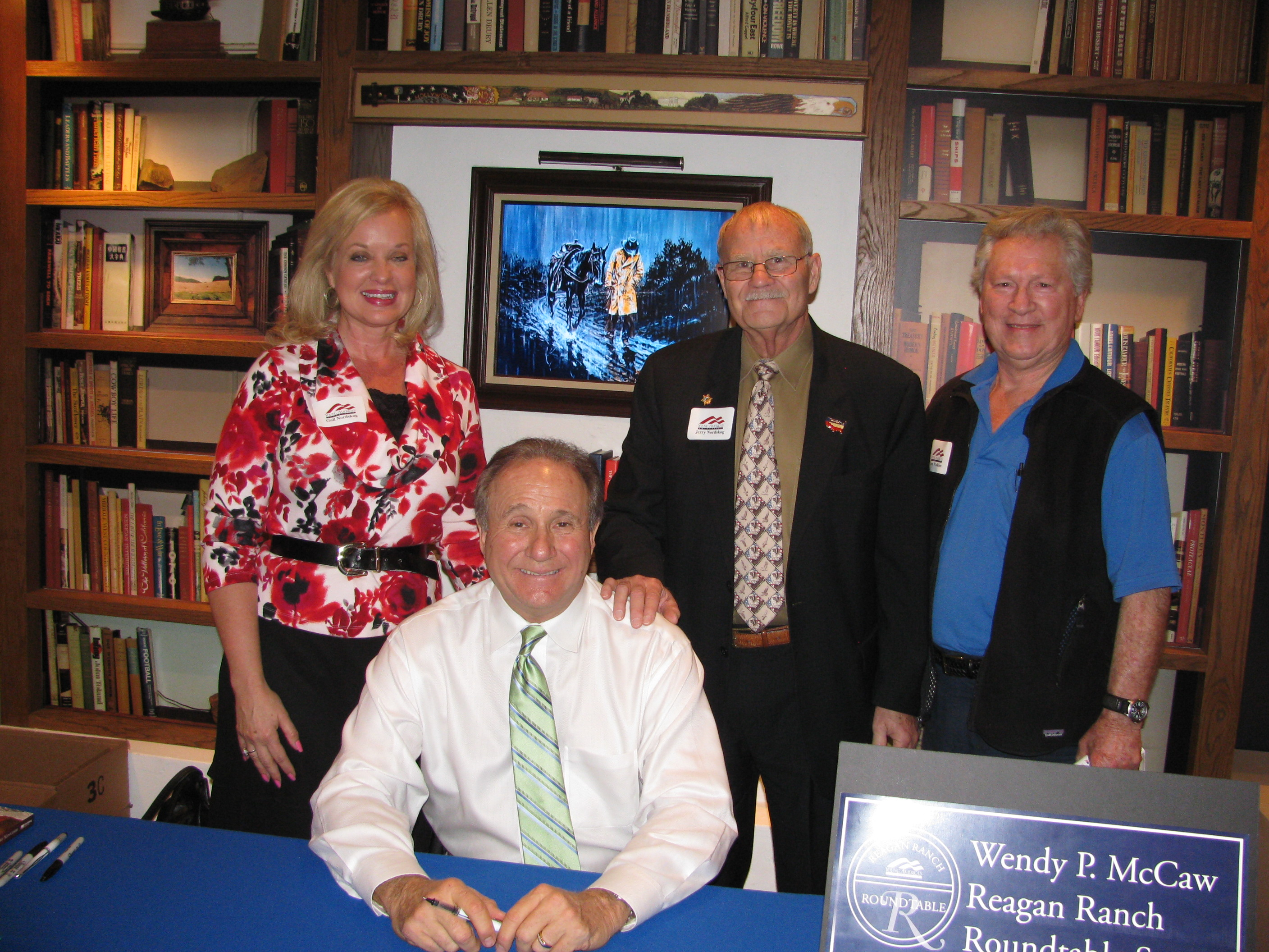 Jerry and Gail with Michael Reagan